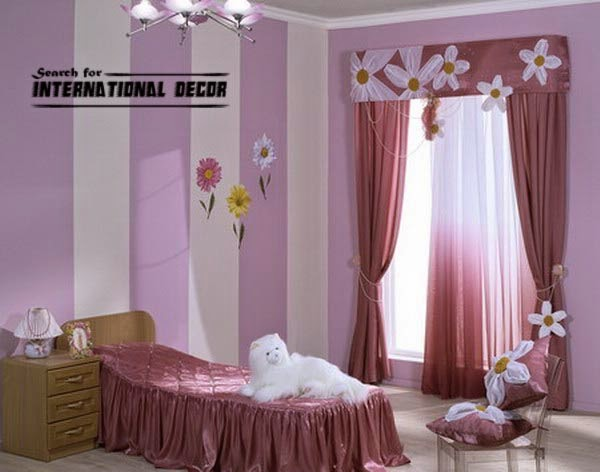 contemporary girls curtains, girls bedroom curtains