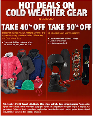 Jan. 27, 2012 Dick's Sporting Goods email