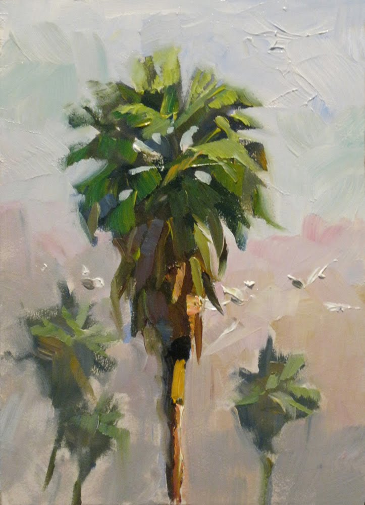 Tom brown fine art palm trees by tom brown plus seascape for Painting palm trees