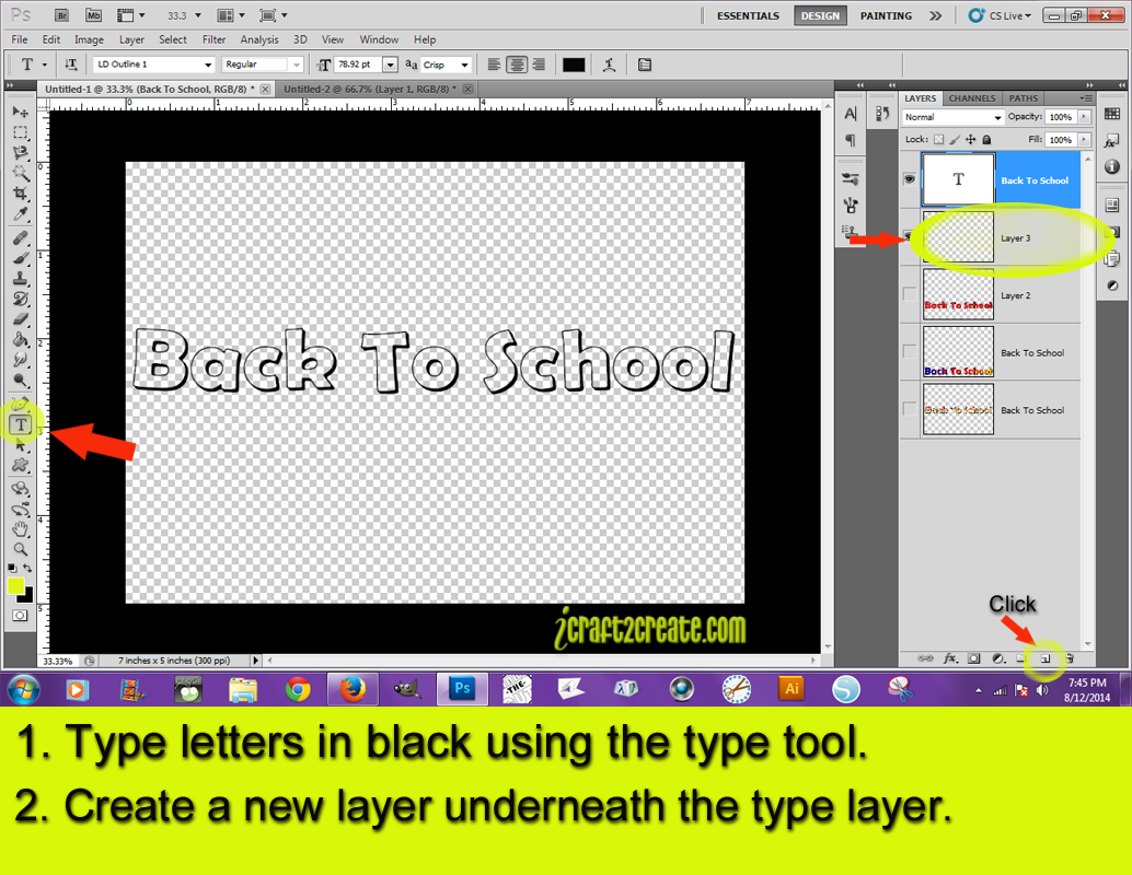 how to change letter color in photoshop
