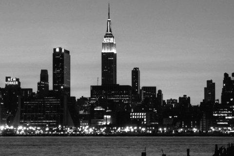 New-York noir et blanc. En fond d'écran pour votre iPhone