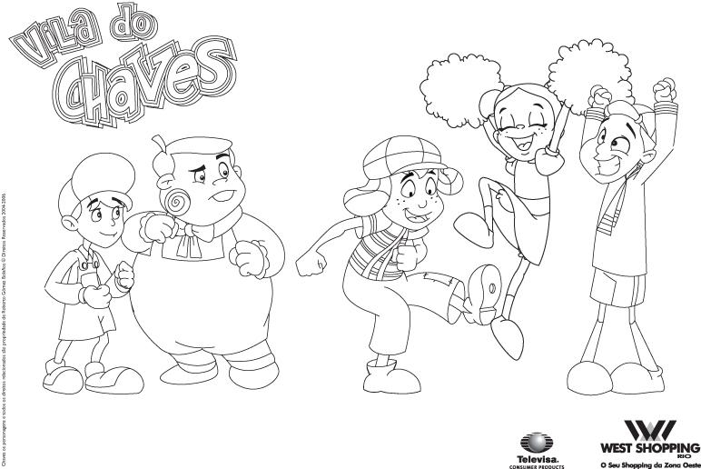 desenhos da turma do chaves para colorir e pintar pra colorir e