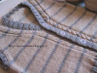 Lana e cotone maglia e uncinetto baby gilet - Bagno 37 silvana bellaria ...