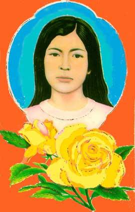 Imagen de Sarita Colonia con rosas amarillas