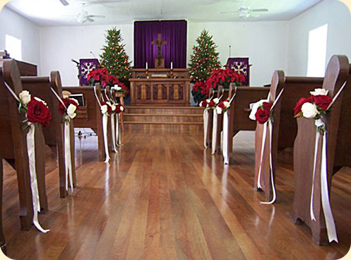 Wedding Decorations For Church Aisle