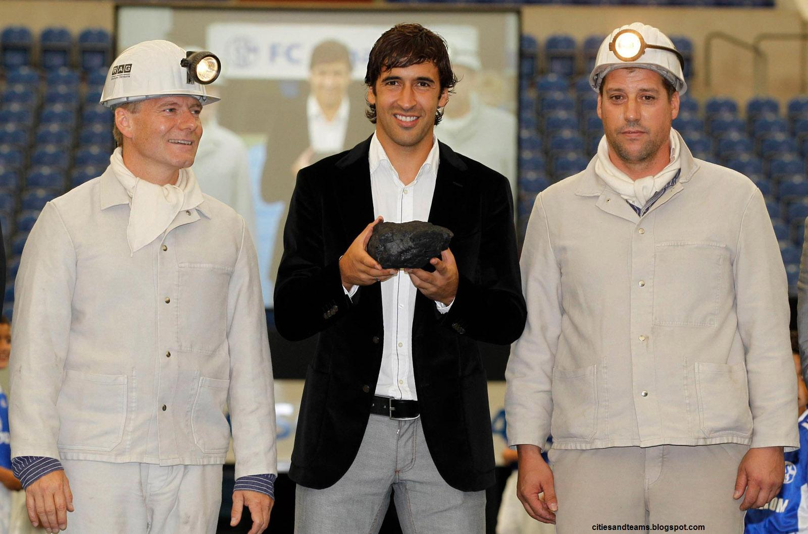 Raul Gonzalez With Mine Workers