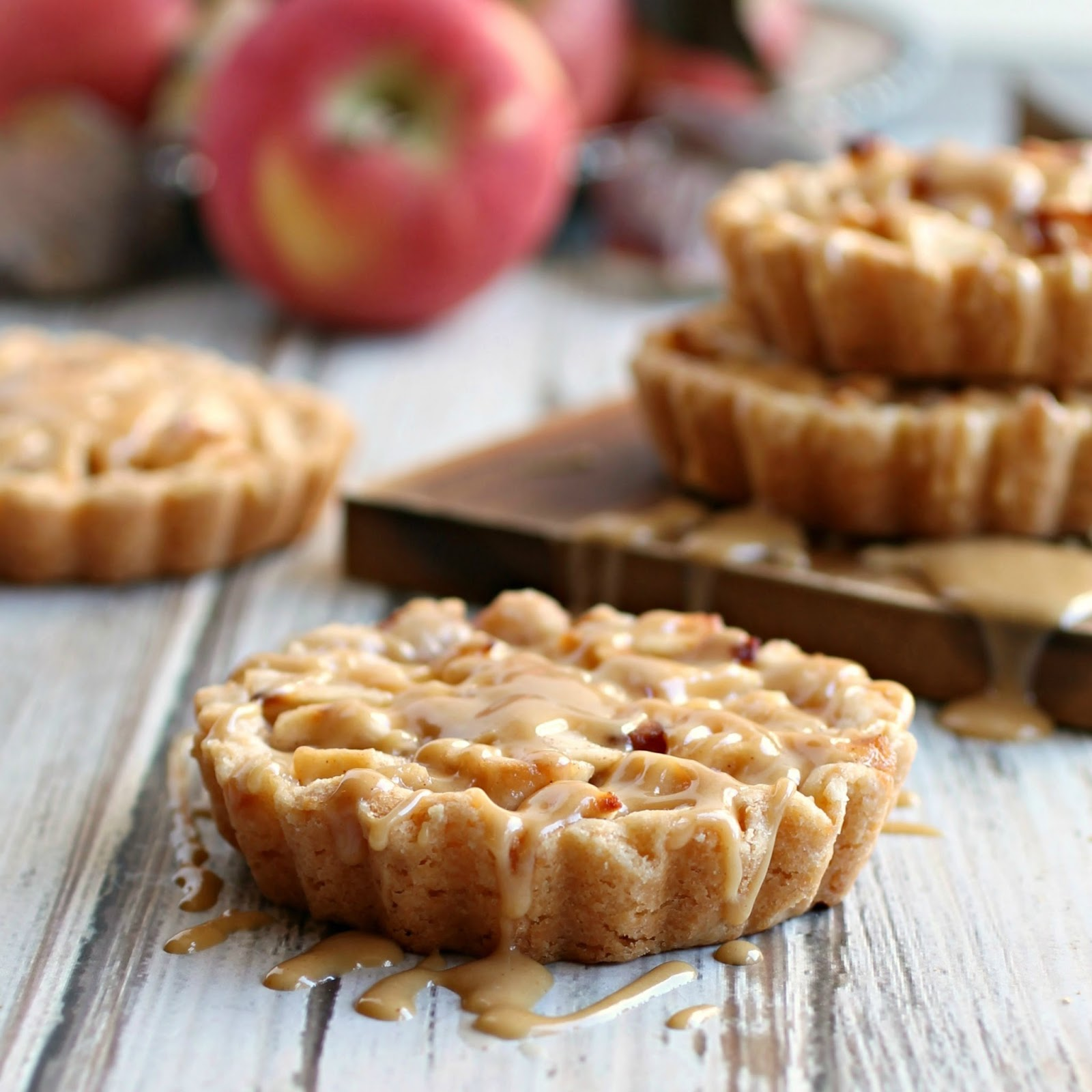 Hungry Couple: Peanut Apple Tarts with Peanut Butter Glaze
