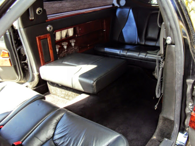 mercedes limo interior
