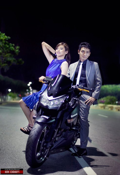 gambar image zizan raja lawak miera leyana kasmi kawasaki superbike