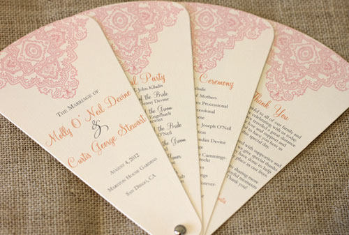 Wedding Program Design