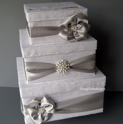 ... DIY card boxes to resemble the wedding cakes. Image source: Unknown