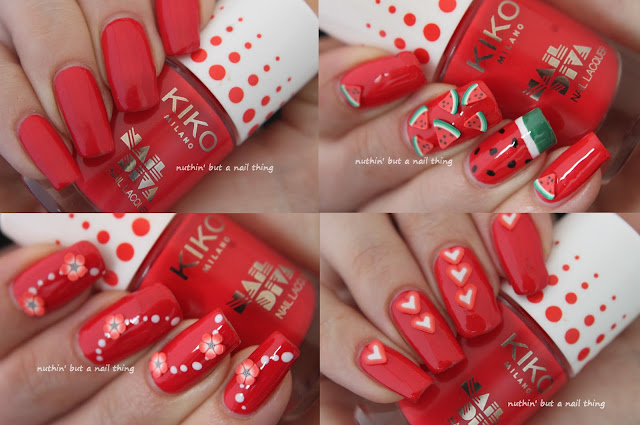 NEW! Kiko - Nail Diva 3D Nail Art Set - Lovely Coral