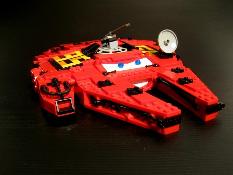 Super Punch: Lego Lightning McQueen/Millennium Falcon mashup