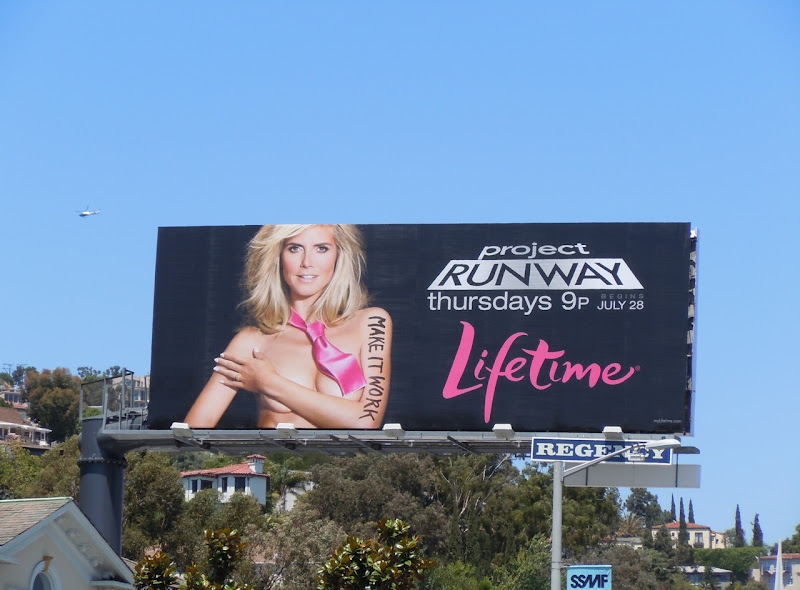 Naked Heidi Klum Project Runway 9 billboard