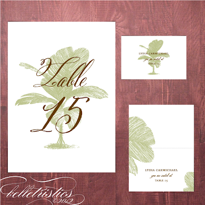 palm tree destination beach print at home pdf table number escort place card