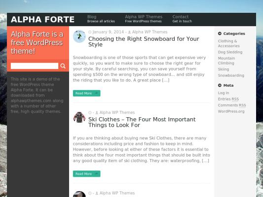 picturesquare Free WordPress theme 2014
