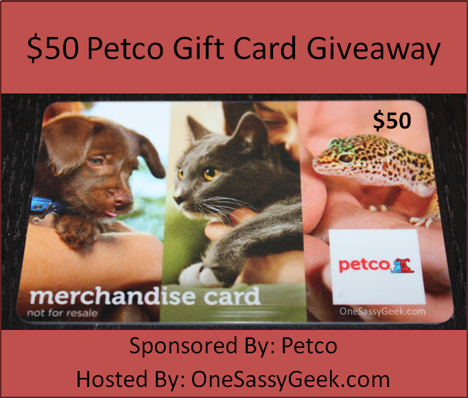 Enter the $50 Petco Gift Card Giveaway. Ends 4/7