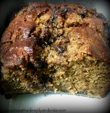 Protein Packed Chocolate Chip Banana Bread