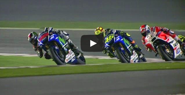 MotoGP Qatar 2015 Best Actions Rossi vs Dovisioso