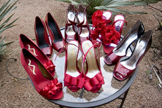 wedding ideas red bridal heels bridesmaids shoes