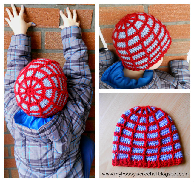 My Hobby Is Crochet Spider Web Beanie With Link To Free Pattern