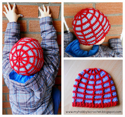 Spider web Beanie  with Link to Free Crochet Pattern