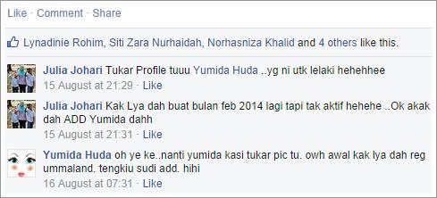 Up status di Facebook, pentingkah LIKE dan KOMEN diterima?