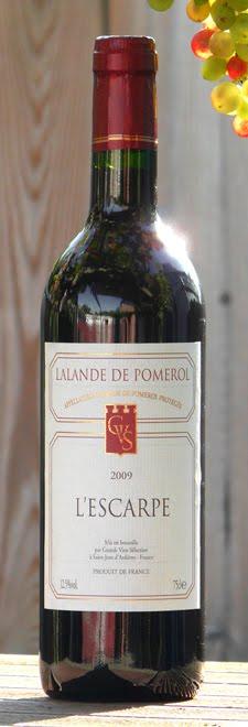 Wijn-blog: Lalande de Pomerol AOP L'Escarpe 2009  Lalande