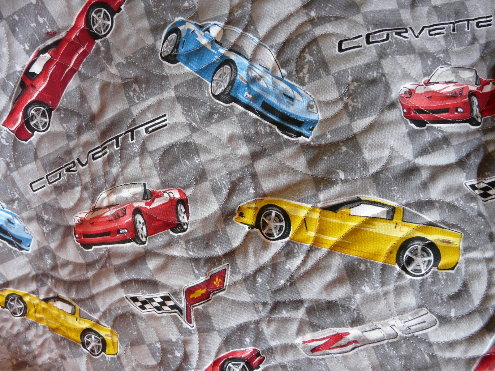 Timber Hill Threads Corvette Quilt At The Finish Line