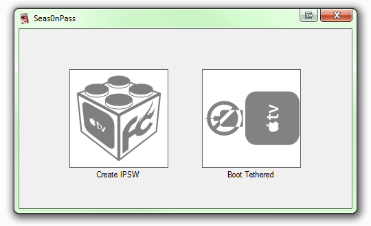 Two Options Create IPSW or Boot Tethered Seas0nPass