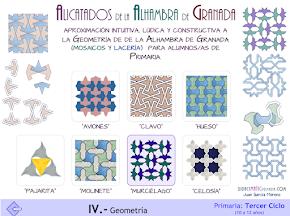 Geometría de la Alhambra de Granada. Mosaicos y lacería.