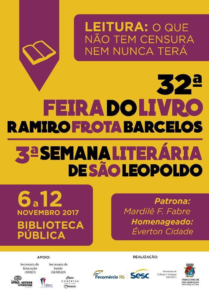 Patrona da 32 ª Feira do Livro Ramiro Chaves barcelos de São leopoldo