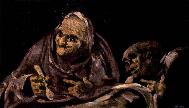 Deux vieux qui mangent une soupe, 1821-23, Goya