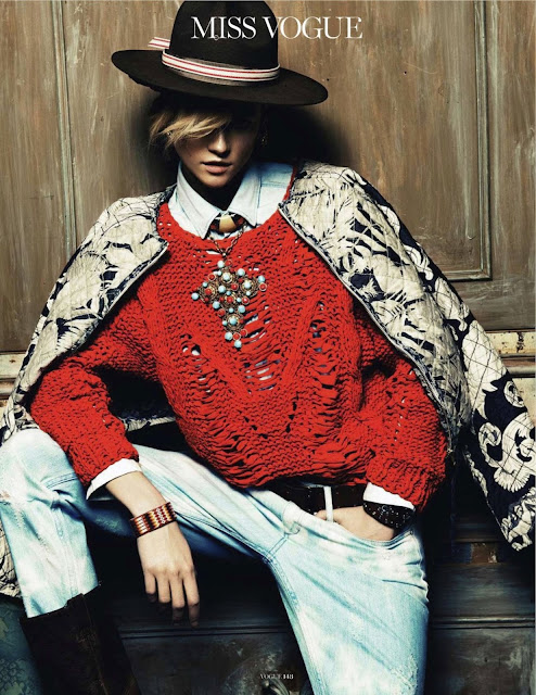 Kasia Struss for Vogue Paris April 2013, boho, gypsy, style, Knoepfel & Indlekofer