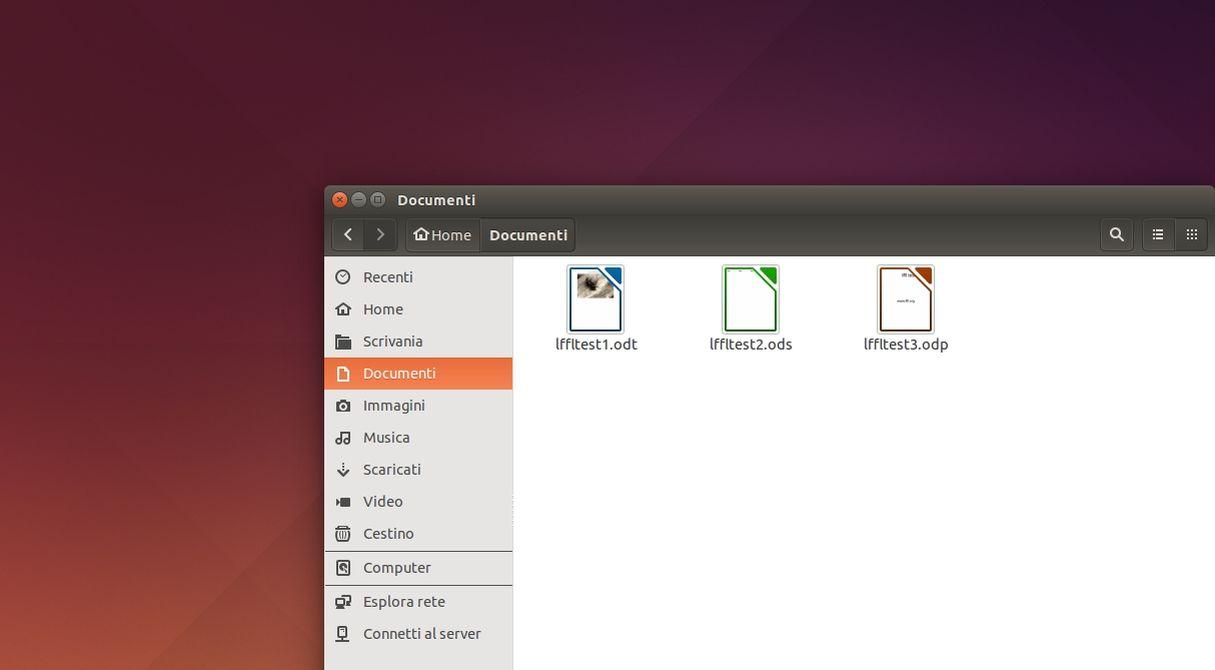 Anteprime LibreOffice