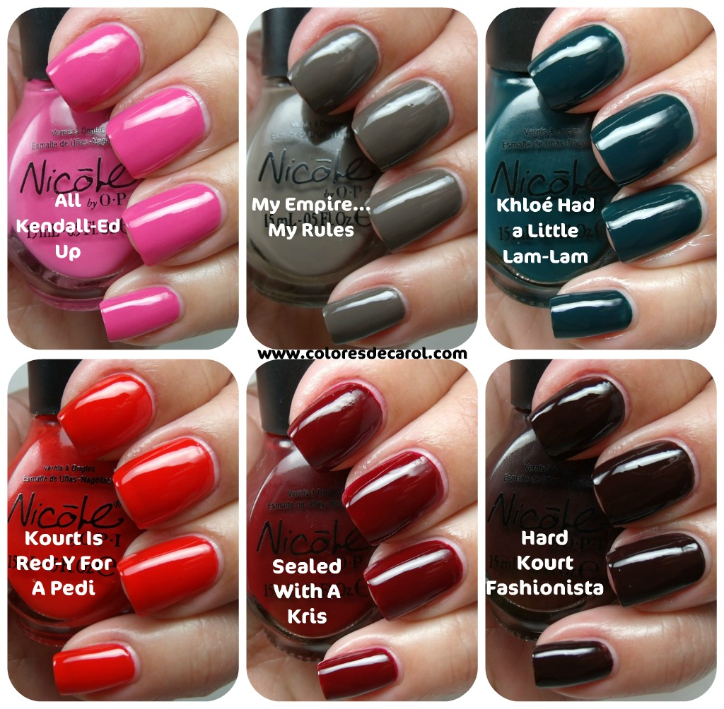 Colores de Carol: Nicole by OPI Kardashian Collection Part I