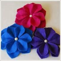 Как сделать цветы из фетра своими руками. Flowers of Felt.