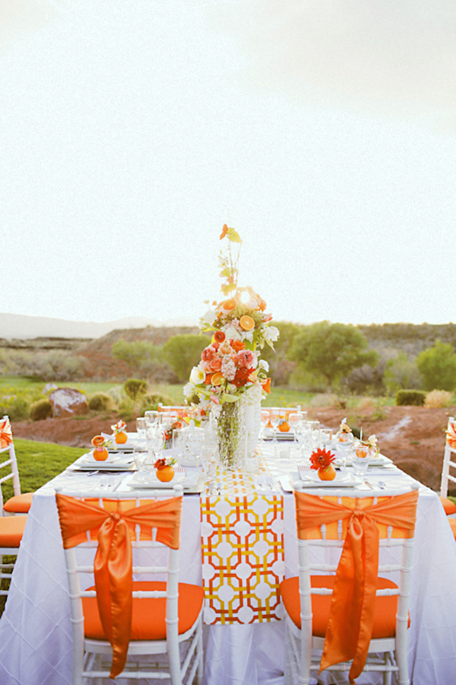 Gorgeous Tangerine Tango Wedding Inspiration - Belle The ... Tangerine Tango Wedding