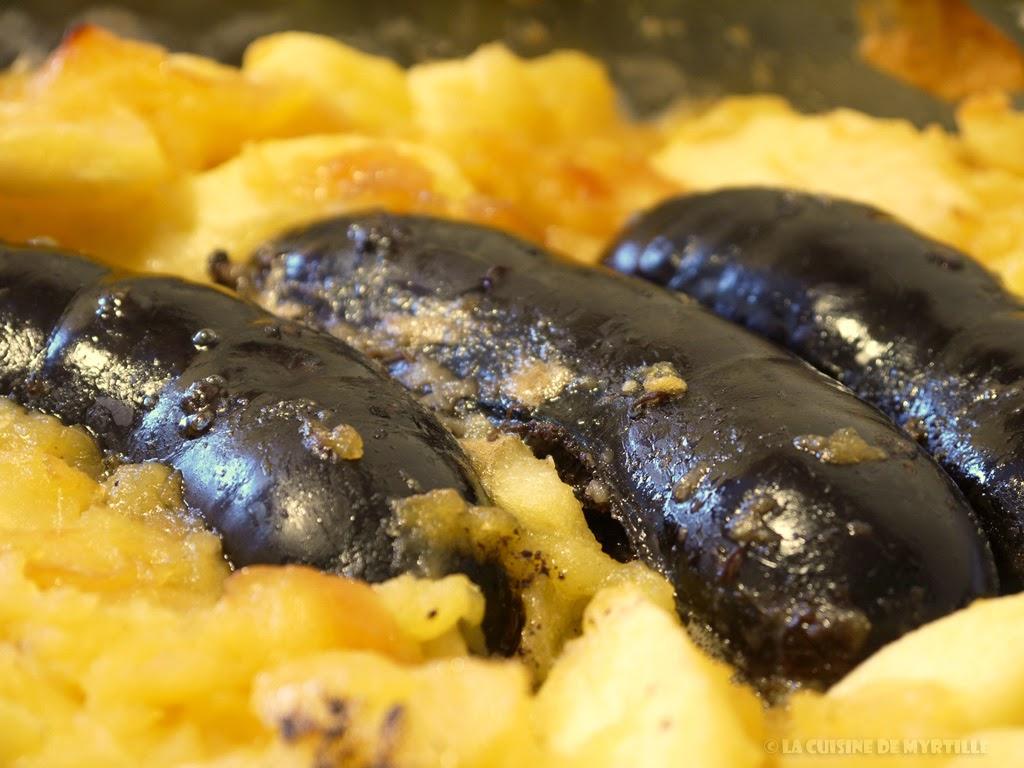 Voir la recette du boudin noir aux pommes (cuisson au four)