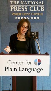 Kathryn Catania speaks on plain language