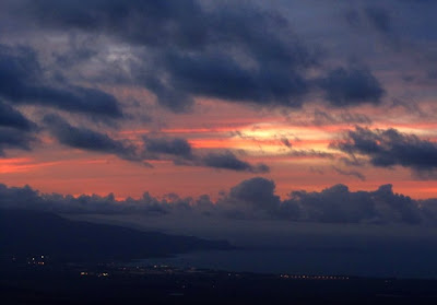 Sunset over Kahului, Maui, May 2011