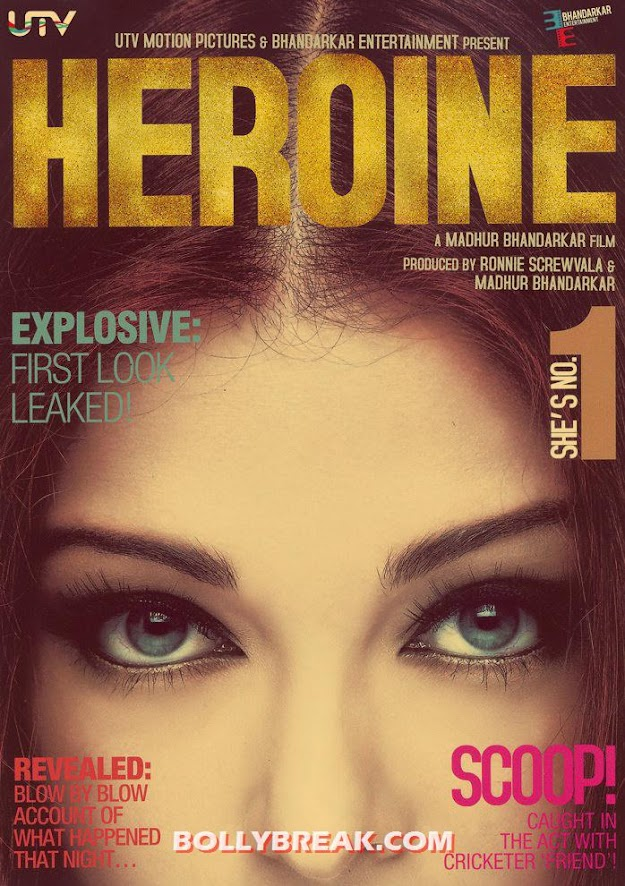 Aishwarya Rai first look Heroine movie leaked photo - Heroine Movie First Look with Aishwarya Leaked