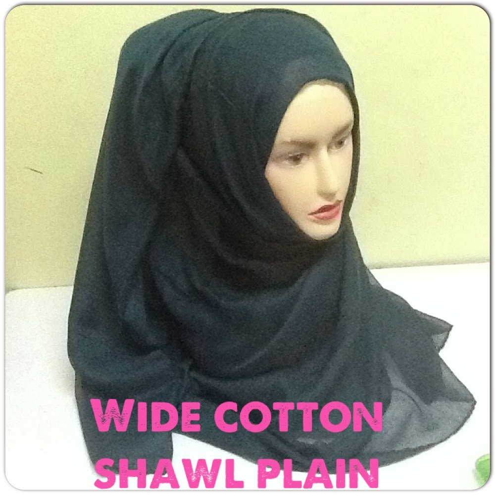 NEW COLLECTION : WIDE COTTON SHAWL PLAIN..