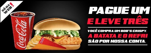 Amostra Gratis Batata Frita E Refrigerante 300ml No Bob's