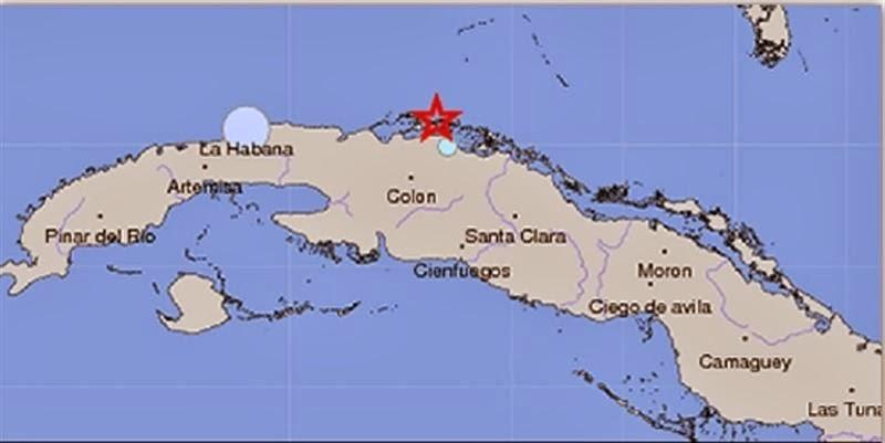 SISMO DE 5,1 GRADOS SACUDE CUBA, 10 de Enero 2014