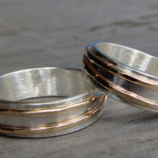 asymmetrical wedding bands