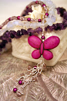 Purple Butterfly (sterling silver, amethyst, stones, quartz, Czech glass) :: All the Pretty Things