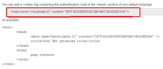Cara Verifikasi Website atau Blog di Bing