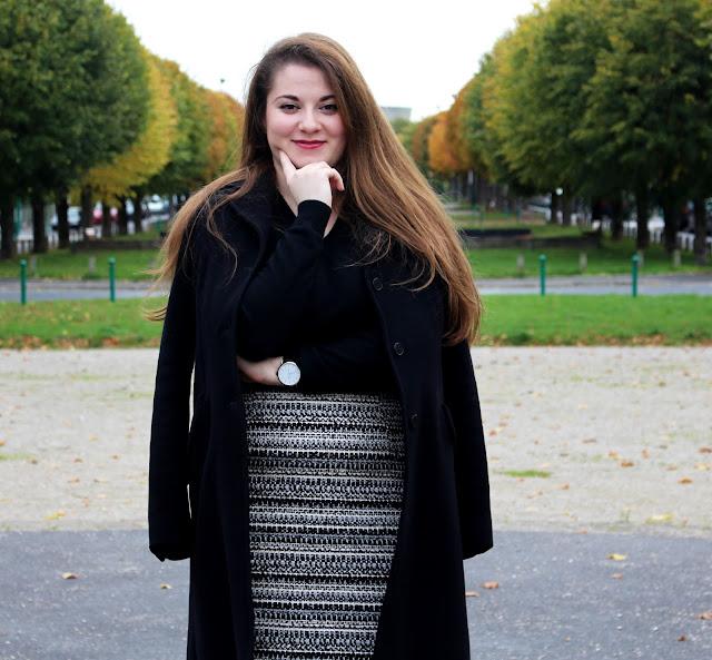 Tenue du jour automne 2015 blogueuse mode h&m Daniel Welington