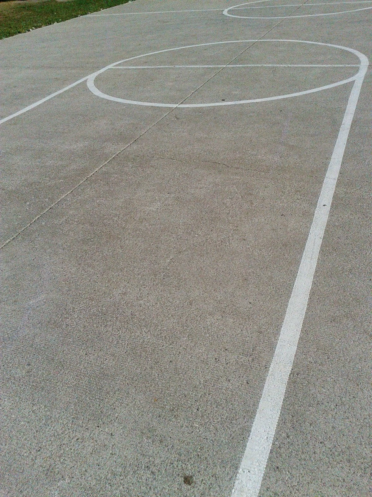 Stock photo: Basketball lines drawn on an outdoor court